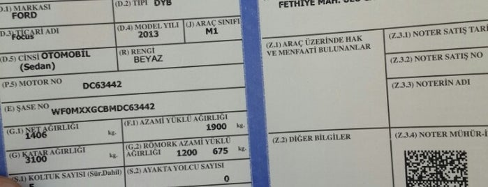 Nilüfer Trafik Tescil Büro Amirliği is one of Tempat yang Disukai Erkan.