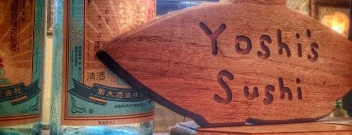 Yoshi's Sushi is one of Happy Hour.