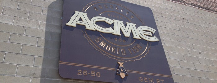 Acme Smoked Fish is one of E New York.