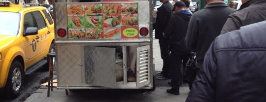 Adel's best #1 Halal Food Cart is one of FiDi Lunches.