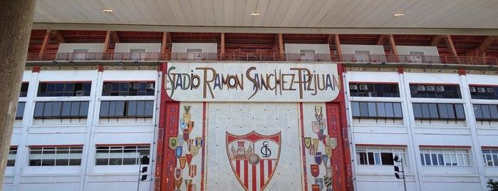 Estadio Ramón Sánchez-Pizjuán is one of La Liga BBVA Stadium 2013-14.