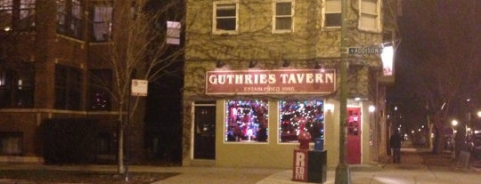 Guthrie's Tavern is one of Alex's Picks for Chicgao.