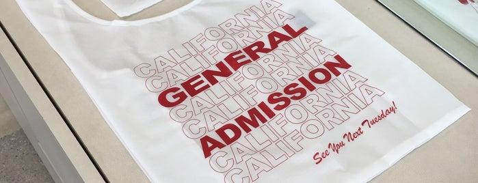 GeneralAdmisssion is one of LA.