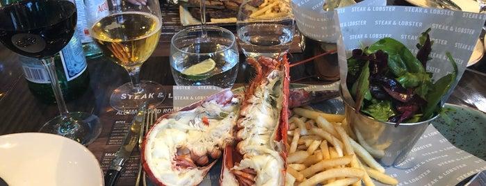 Steak & Lobster is one of Tempat yang Disukai Dmitry.