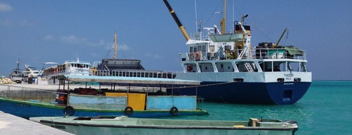 GDh. Thinadhoo Harbour is one of Maldives - The Sunny Side of Life.