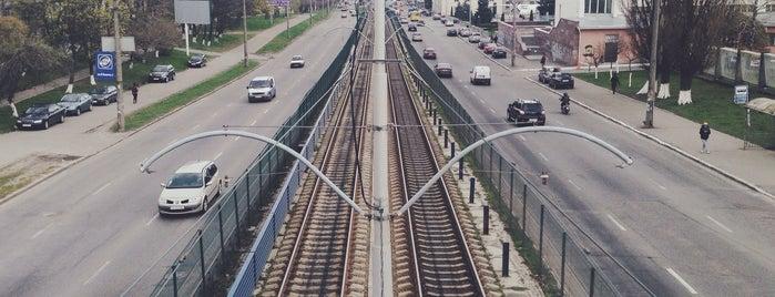 Пешеходный мост возле НАУ is one of Sergey'in Beğendiği Mekanlar.