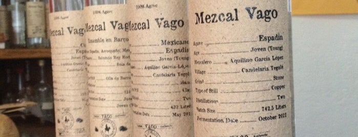 Mezcal Vago is one of Oaxaca.