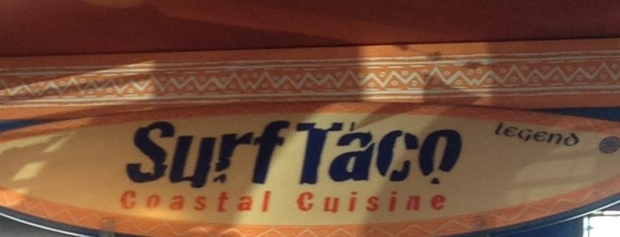 Surf Taco is one of Tempat yang Disukai Christine.