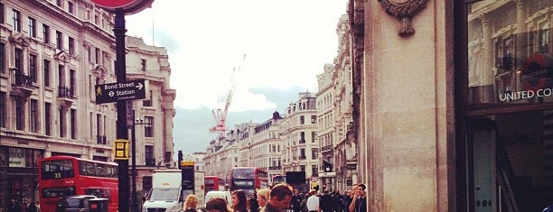 Oxford Circus is one of Inglaterra.
