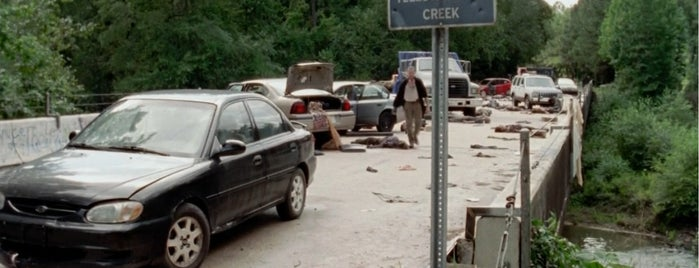 Line Creek Bridge is one of The Walking Dead Filming Locations.