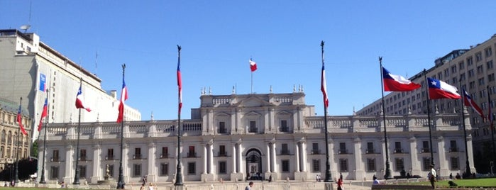 Palacio de La Moneda is one of Santiago.