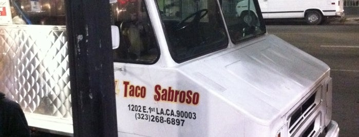 El Taco Sabroso Truck is one of LA3.