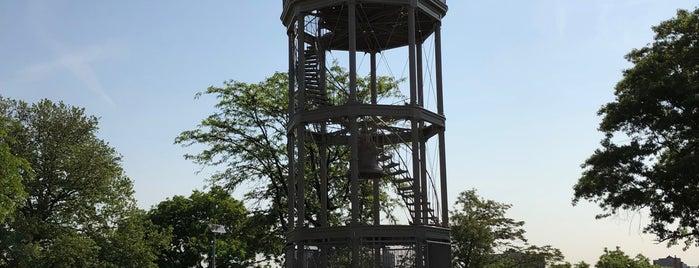 Harlem Fire Watchtower is one of National Historic Landmarks in Northern Manhattan.