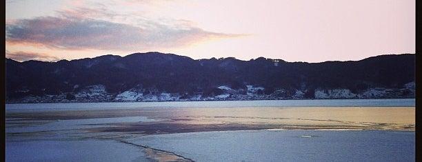 Lake Suwa is one of Tempat yang Disukai モリチャン.