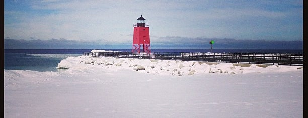 Charlevoix South Pierhead Lighthouse is one of Michigan.