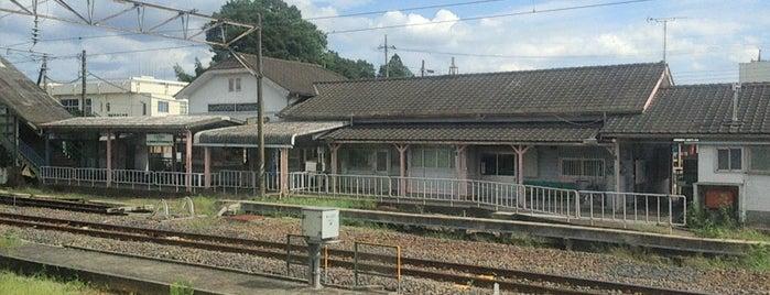 Kurodahara Station is one of JR 키타칸토지방역 (JR 北関東地方の駅).