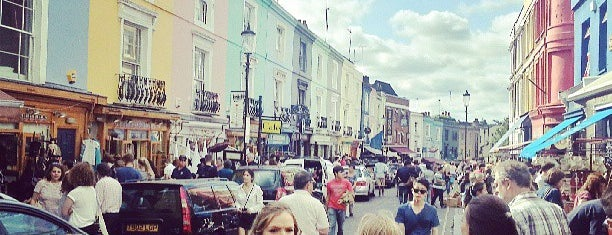 Portobello Road Market is one of London Museums, Galleries, Markets...