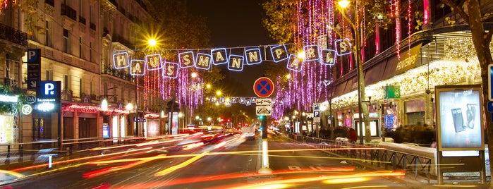 Boulevard Haussmann is one of Noël Paris.