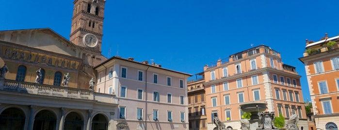 Piazza di Santa Maria in Trastevere is one of Rome / Roma.
