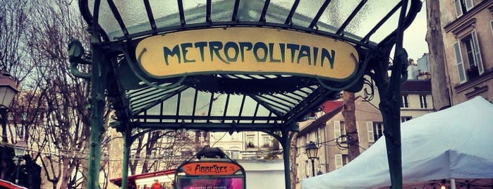 Métro Abbesses [12] is one of Went before.