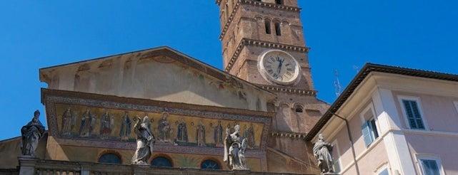 Basilica di Santa Maria in Trastevere is one of Rome / Roma.