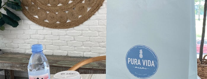 Pura Vida Cafe is one of Miami.