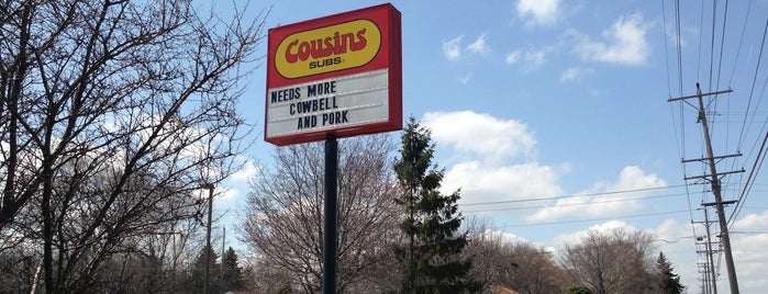 Cousins Subs of Brown Deer - 51st & Brown Deer Rd. is one of Posti salvati di Karl.