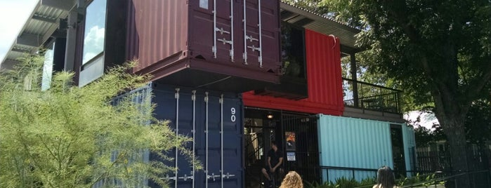 The Container Bar is one of Austin.