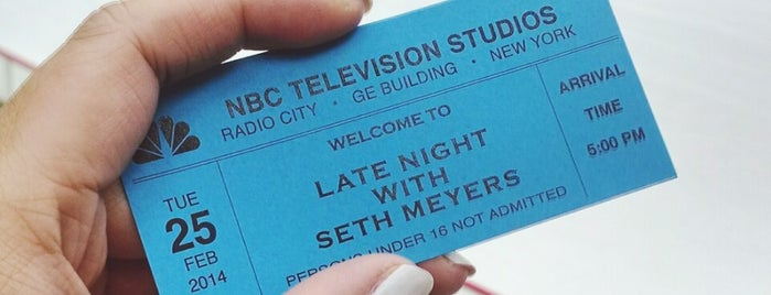 Studio 8G - Late Night with Seth Meyers is one of Erik'in Beğendiği Mekanlar.