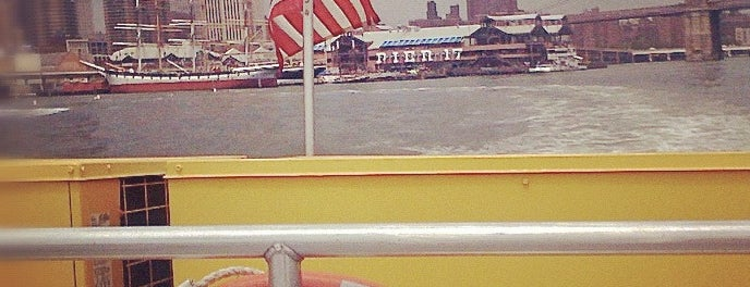 New York Water Taxi - Pier 11, Slip A is one of my #NYCMustSee4sq.