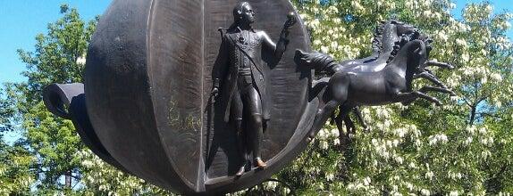 Памятник Апельсину / Monument to orange is one of Kateryna : понравившиеся места.