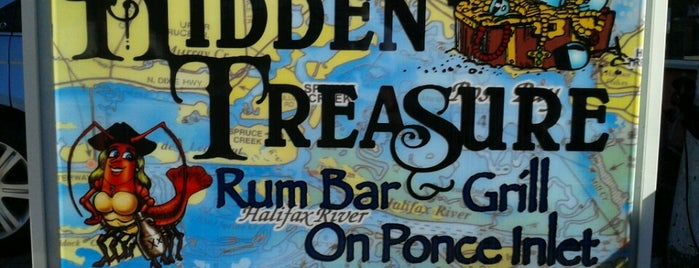 Hidden Treasure Rum Bar & Grill On Ponce Inlet is one of Florida favorites.