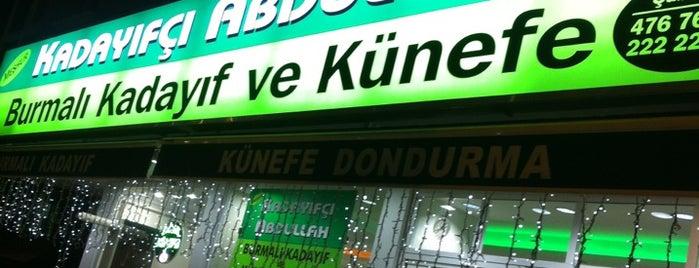 Kadayıfçı Abdullah is one of Orte, die Sunay gefallen.