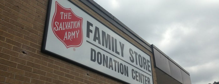 Salvation Army is one of Thrifting Spots in the Southeast.
