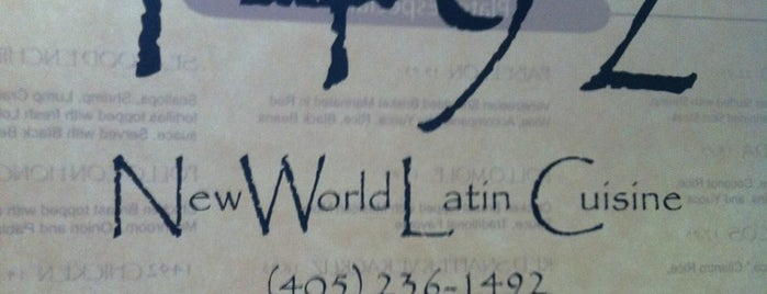 1492 New World Latin Cuisine is one of New Places To Try.
