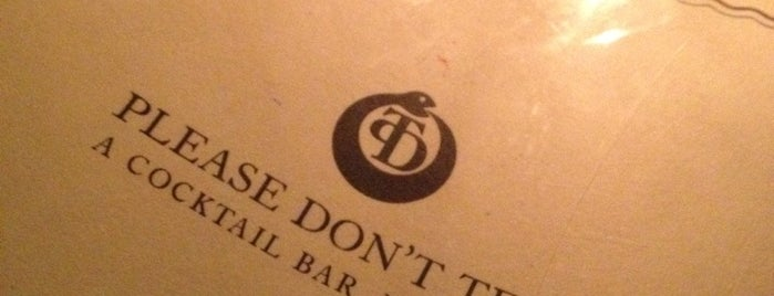 PDT (Please Don't Tell) is one of NYC.