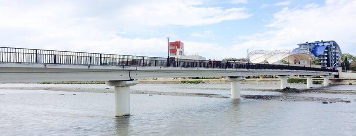 Пешеходный мост через р. Мзымта is one of Tempat yang Disukai Vlad.