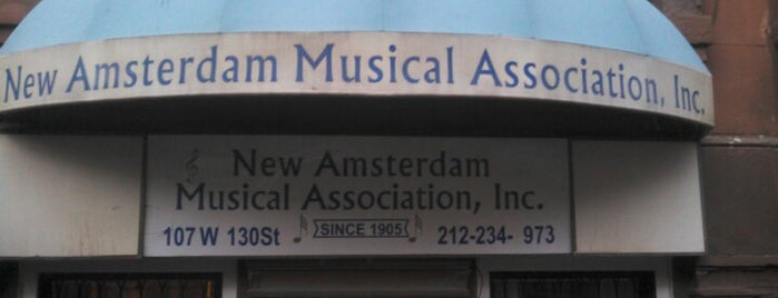 New Amsterdam Musical Association is one of jazz Venue.