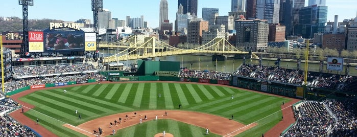 PNC Park is one of sports arenas and stadiums.