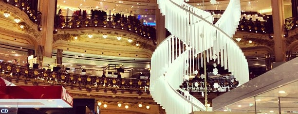 Galeries Lafayette Haussmann is one of I want to go to there.