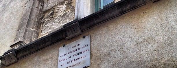 Maison Natale de Nostradamus is one of Provence adresses.