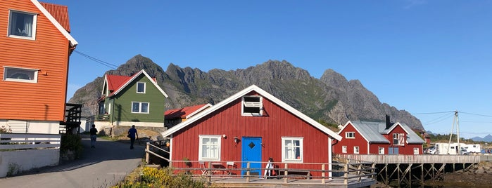 Henningsvær is one of Lofoten // Norway.