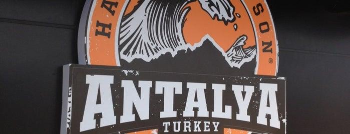 Harley Davidson Cafe Antalya is one of Gespeicherte Orte von Mehlika.