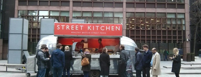 Street Kitchen Airstream Broadgate Circle is one of London Markets & Food Stalls.