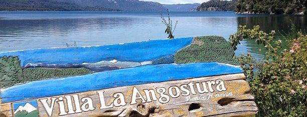 Bahía Mansa y Bahía Brava (Istmo de Quetrihué) is one of villa la angostura.