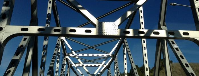 Carquinez Bridge is one of roads.