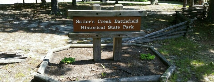 Sailor's Creek Battlefield State Park is one of Virginia.