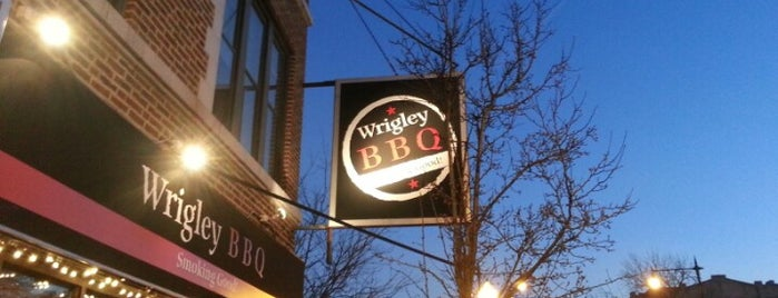 Wrigley BBQ is one of Posti salvati di Nikkia J.