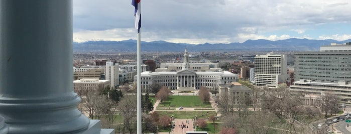 The Top Of The Dome Of The Capitol is one of Denver.