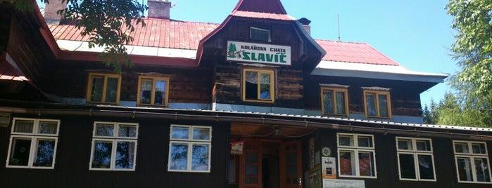 Kolářova chata Slavíč is one of Turistické chaty SK, CZ, PL.